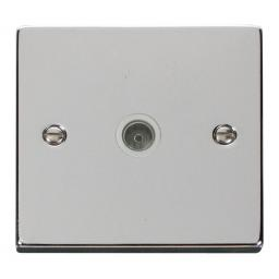 Single Coaxial Socket Outlet - White