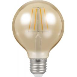 Dimmable 5w LED Filament Globe 80mm ES (E27)