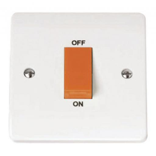 45A 1 Gang Single Cooker Switch