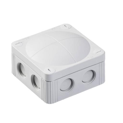 Wiska Grey Plastic Junction Box - IP66 (85x85x51 mm)