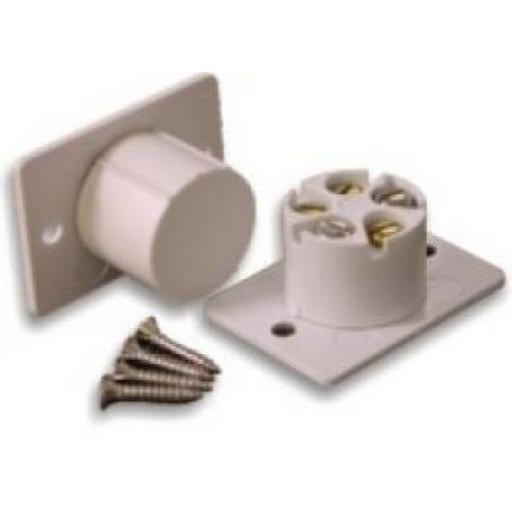 Flush Alarm Contact - White