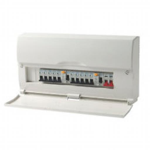 LIVE 18 Way Split Load c/w 100 Isolator/2x63A RCD
