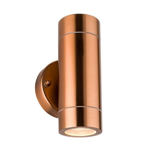 Palin 2lt Wall IP44 35W - Copper Lacquer