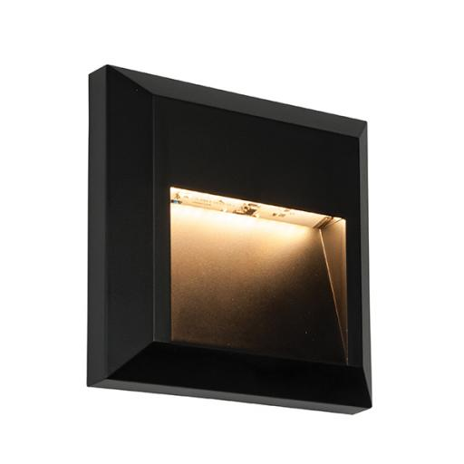 Severus Square Indirect IP65 1W Warm White - Black ABS