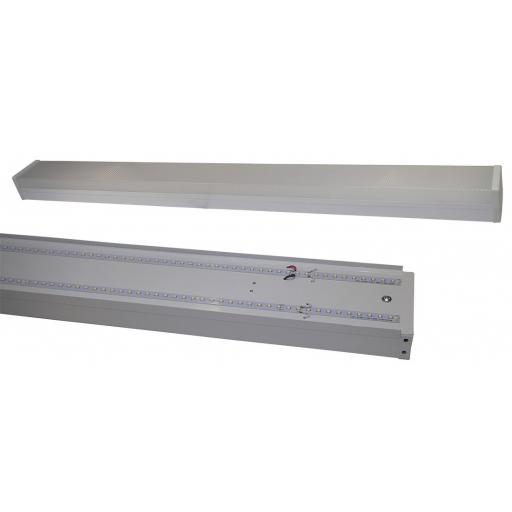 6ft Twin Built-In-LED Batten Fitting 56w c/w Diffuser