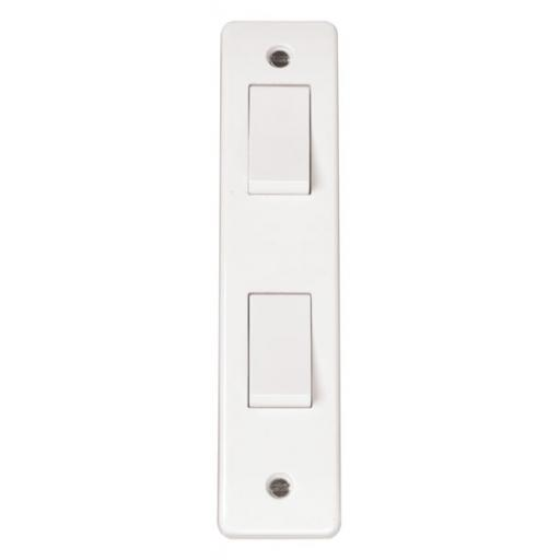 2G 2W 10A ARCHITRAVE PLATE SWITCH