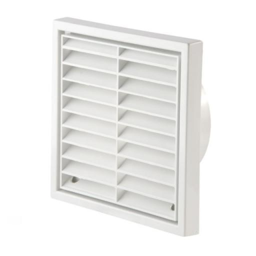 "5""/125mm External Wall Grille - White"