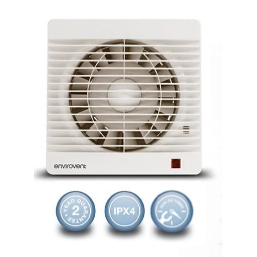 "Envirovent Profile 6""/150mm Extractor Fan - Timer"