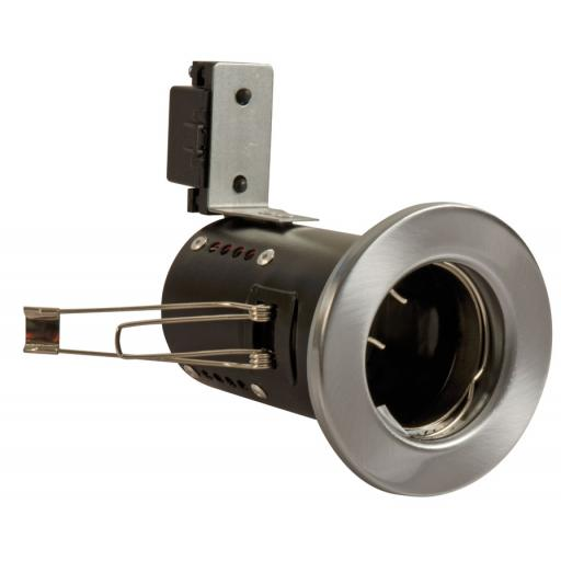 Fire Rated Downlight GU10 Fixed - Satin Chrome