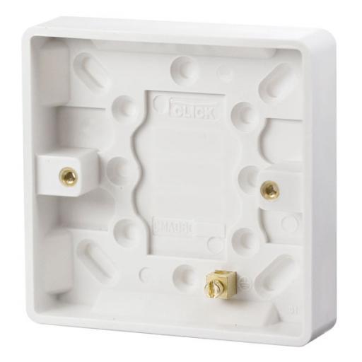 1 Gang 16mm Deep Pattress Box