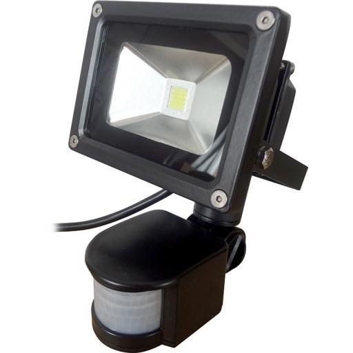 10w LED Floodlight With PIR Sensor