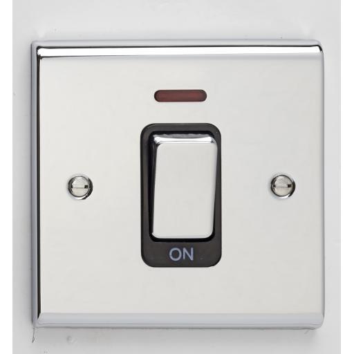 50A DP Switch - Chrome/Black