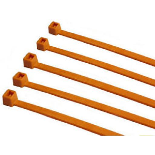 Cable Ties - 370mm x 4.8mm - Orange (Each)