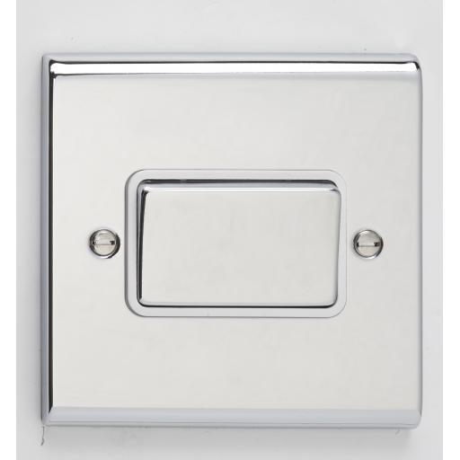 10A 3 Pole Fan Isolator Switch- Chrome/White