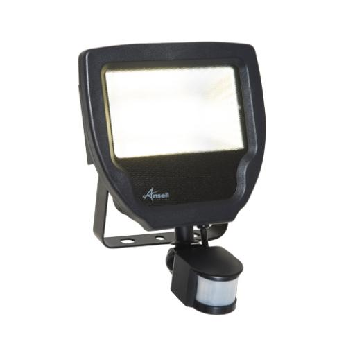 50W Calinor 4000K Polycarbonate LED Floodlight c/w PIR