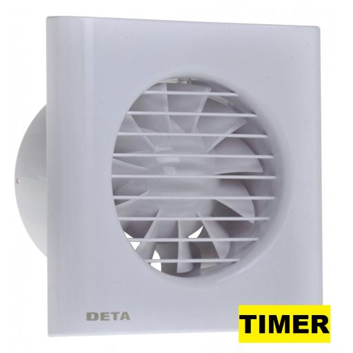 "Deta 4""/100mm Extractor Fan - Timer"