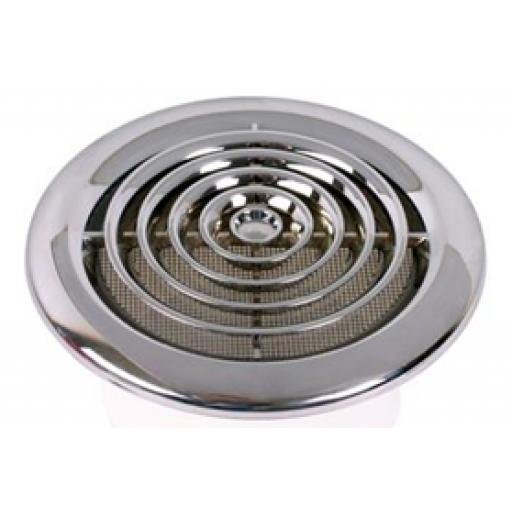 "4"" Round ceiling Grille - Chrome"