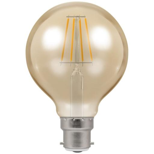 Dimmable 5w LED Filament Globe 80mm BC (B22)