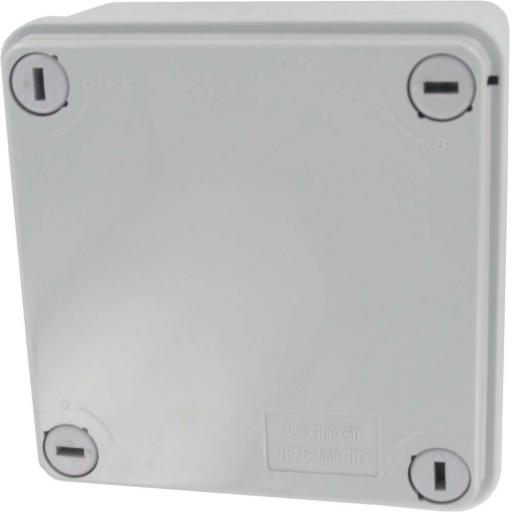 Grey Plastic Junction Box - IP56 (100x100x50 mm)