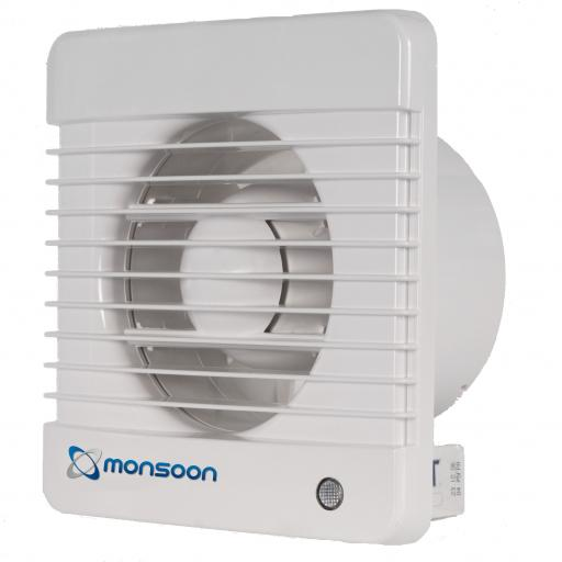 "NatVent Monsoon 4""/100mm Extractor Fan - Pull Cord"