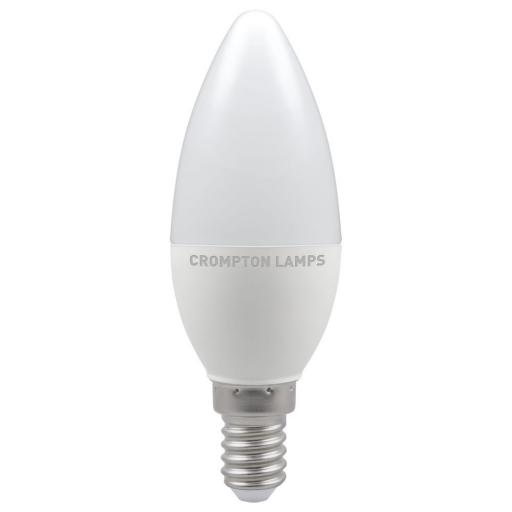 5.5W SES (E14) LED Candle - Cool White 4000k Dimmable