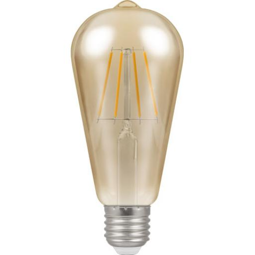Dimmable 5w LED Filament Squirrel Cage Lamp ES (E27)