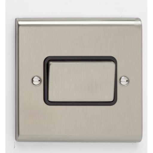 10A 3 Pole Fan Isolator Switch- Stainless Steel/Black