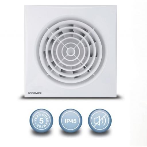 "Envirovent Silent 4""/100mm Extractor Fan - Standard"