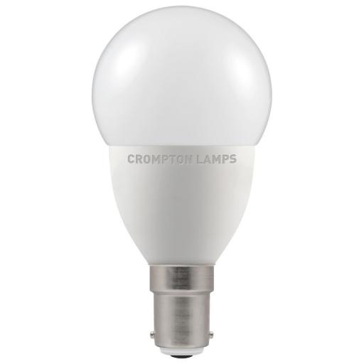 5.5W SBC (B15d) LED Golf Ball - Warm White 2700k Dimmable