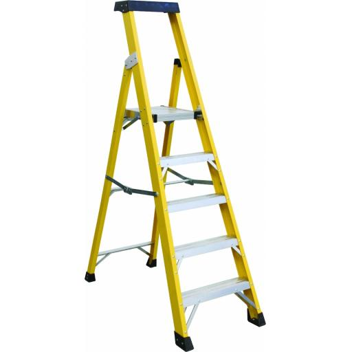 5 Tread Fibreglass Platform Ladder