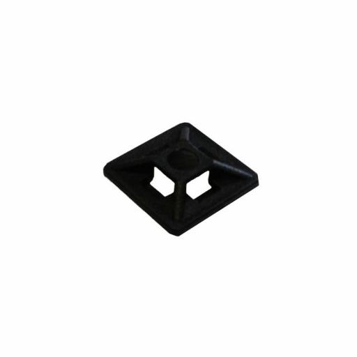 Adhesive 25mm x 25mm Cable Tie Base - Black