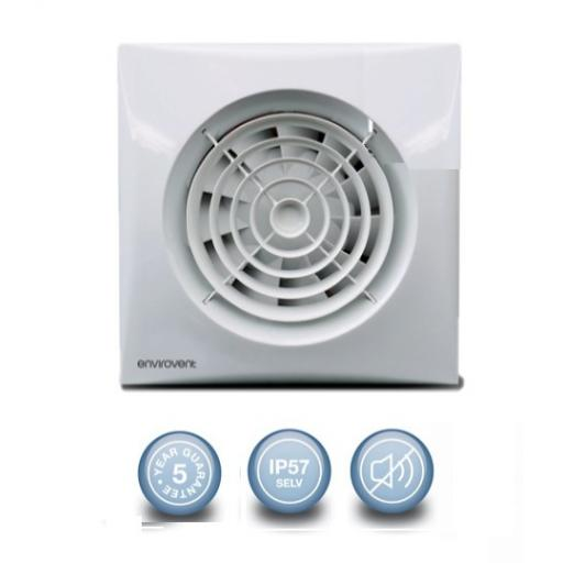 "Envirovent Silent 4""/100mm Extractor Fan - SELV Standard"