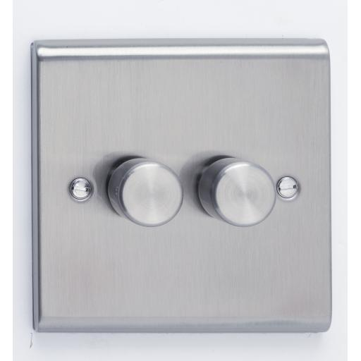 2G 2W 100W LED Dimmer Stainless Steel