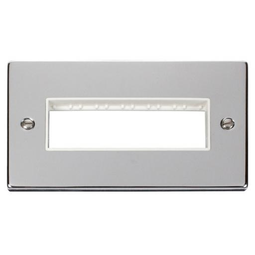 2 Gang Plate 6 In-Line Aperture - White