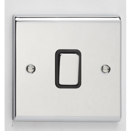 10A 1G Intermediate Switch- Chrome/Black