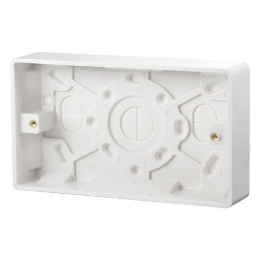 2 Gang 25mm Deep Pattress Box