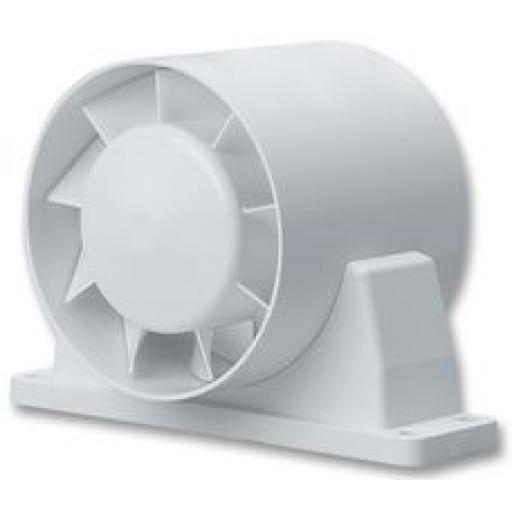 "National Vent. Monsoon 4""/100mm In-Line Extractor Fan"