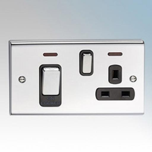 45A Cooker Control Unit with Neon- Chrome/Black