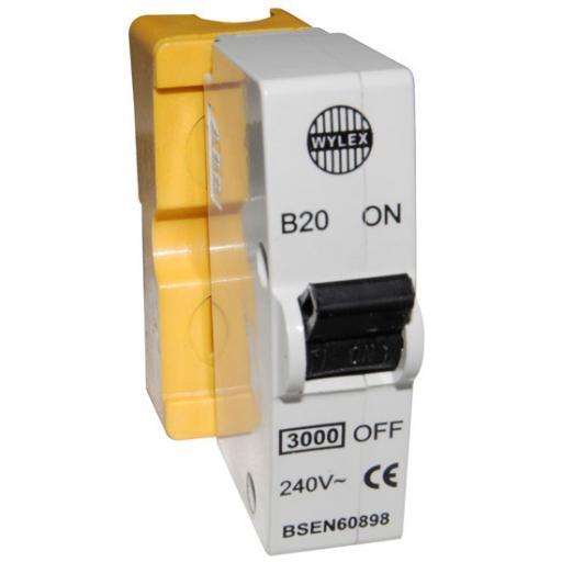 Wylex 20 Amp MCB B20
