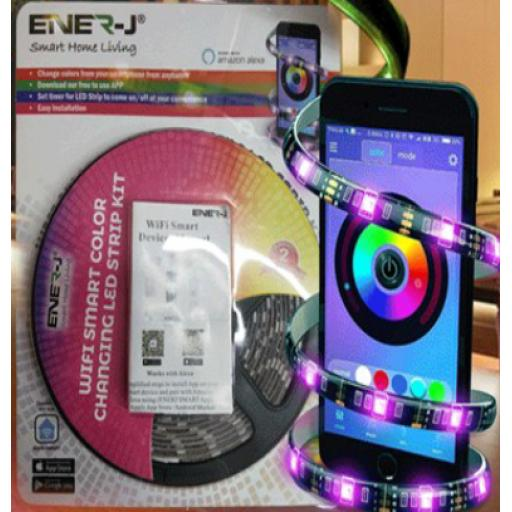 Smart Controlled RGB Colour-Changing LED Strip Kit (5m)