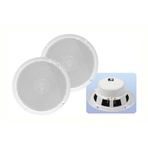 "Pair of 5"" Ceiling Speaker 80w Moisture Resistant"