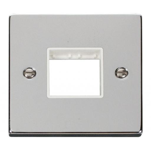 1 Gang Plate Twin Aperture - White