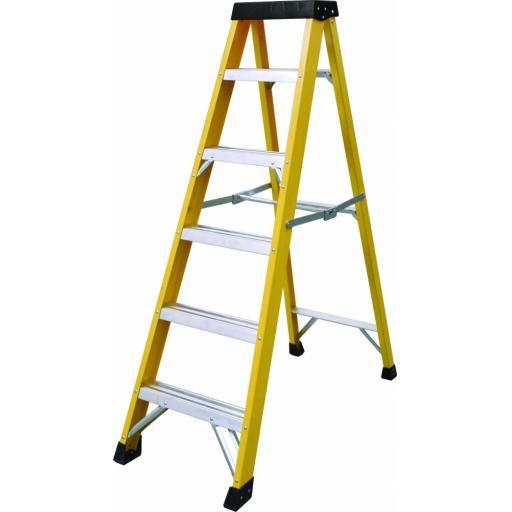 6 Tread Fibreglass Step Ladder