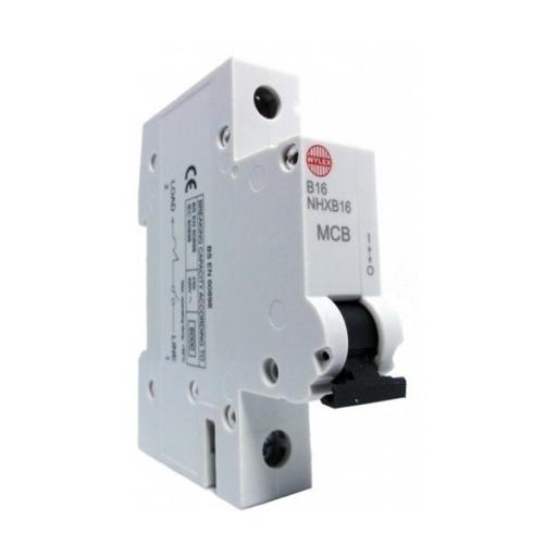 Wylex Single Pole 16A B Curve Circuit Breaker