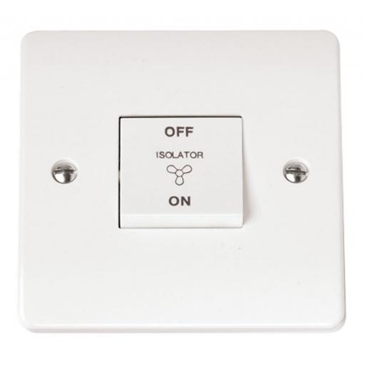 10A 3 Pole Fan Isolation Switch