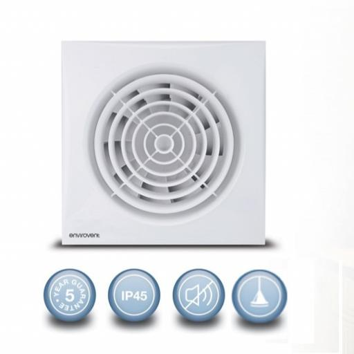 """Envirovent Silent 6""""/150mm Extractor Fan - Pull Cord"""