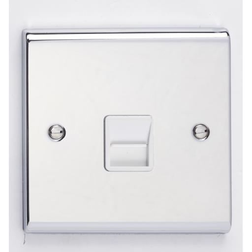 Secondary Telephone Outlet- Chrome/White