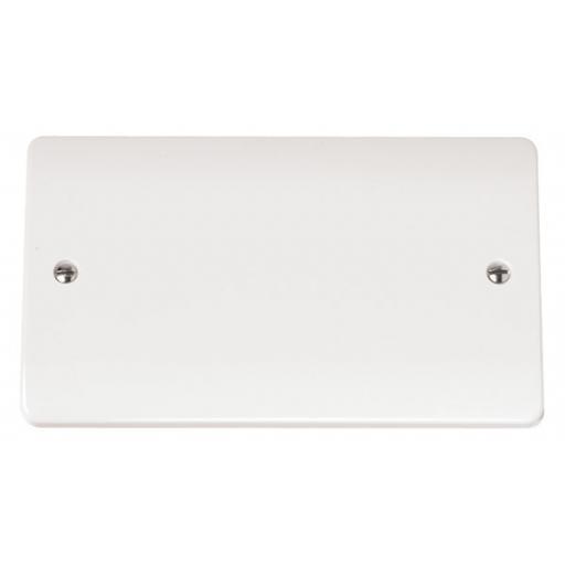 2 Gang Blank Plate