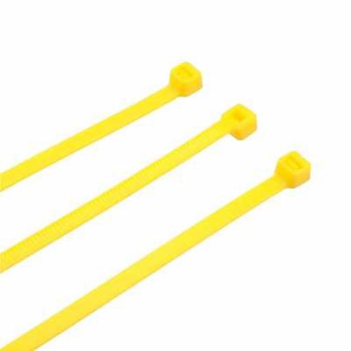 Cable Ties - 370mm x 4.8mm - Yellow (Each)