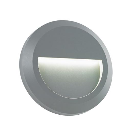 Severus Round Indirect IP65 1W Warm White - Grey ABS